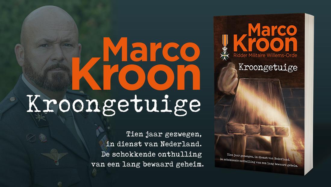 Marco Kroon Ridder Militaire Willems-orde met zijn boek Kroongetuige over Afghanistan